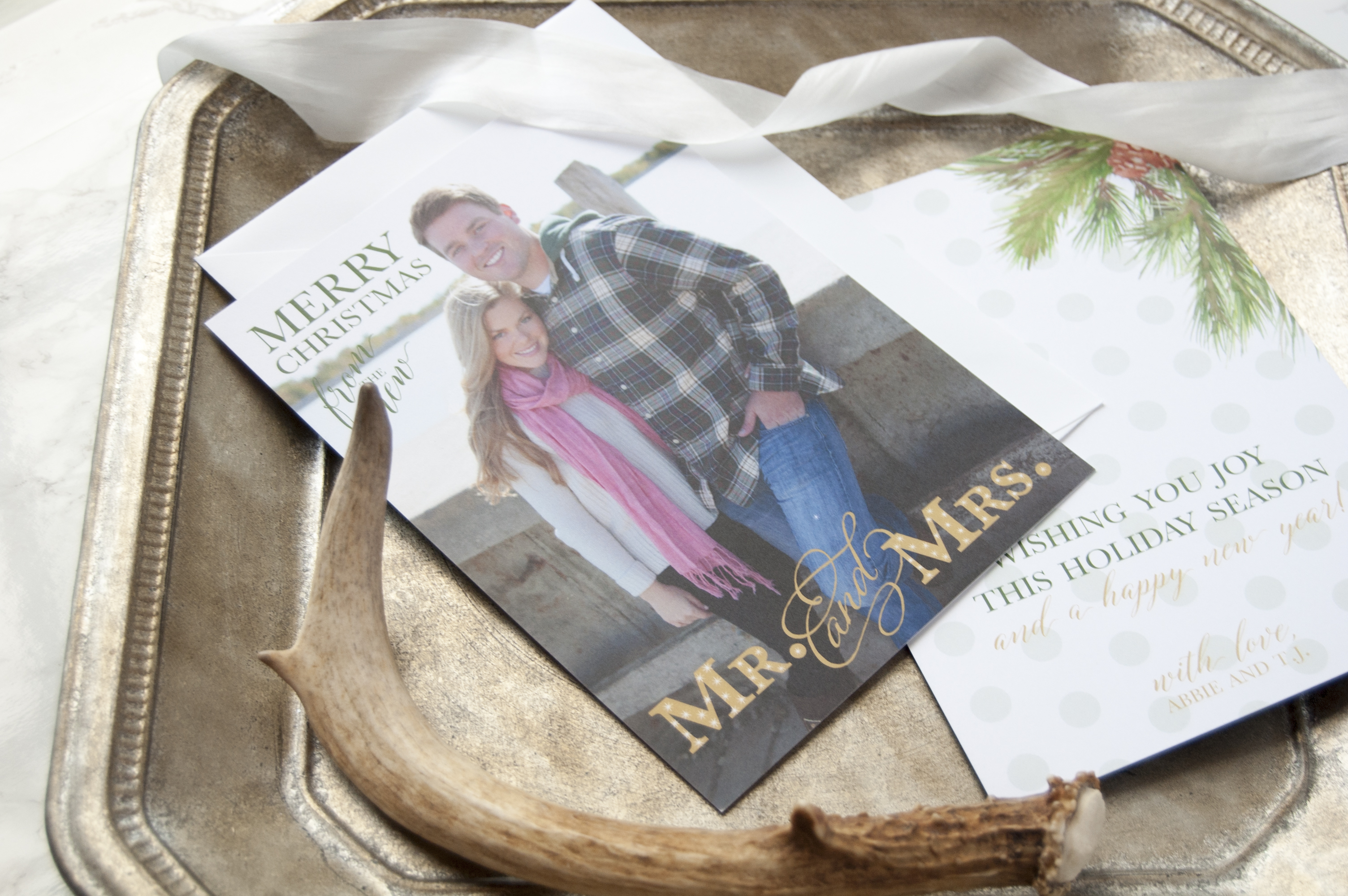 Photo Newlywed Christmas Card