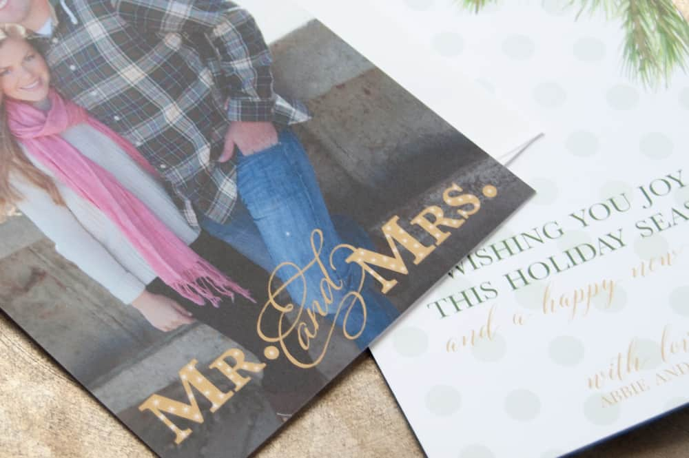 Holiday Cards with Sparkle Letters