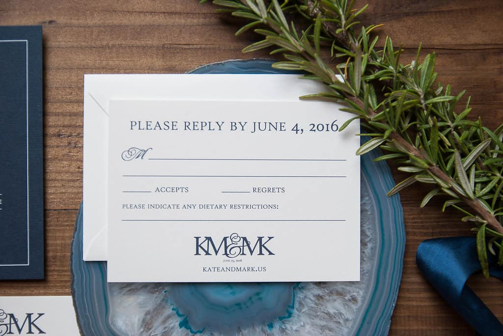 Navy and White Kansas City Wedding at The Guild