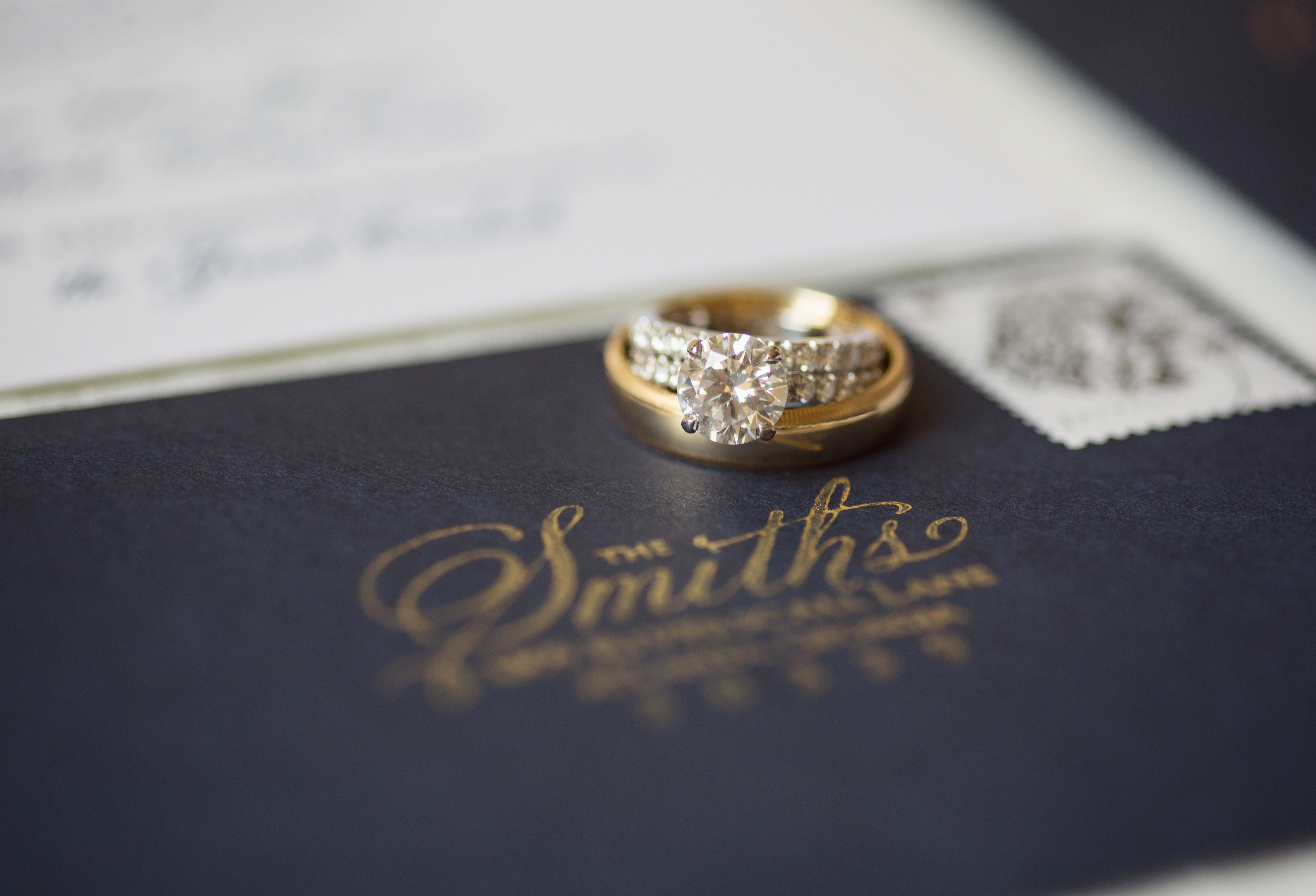 Classic Navy and Gold Georgia Wedding