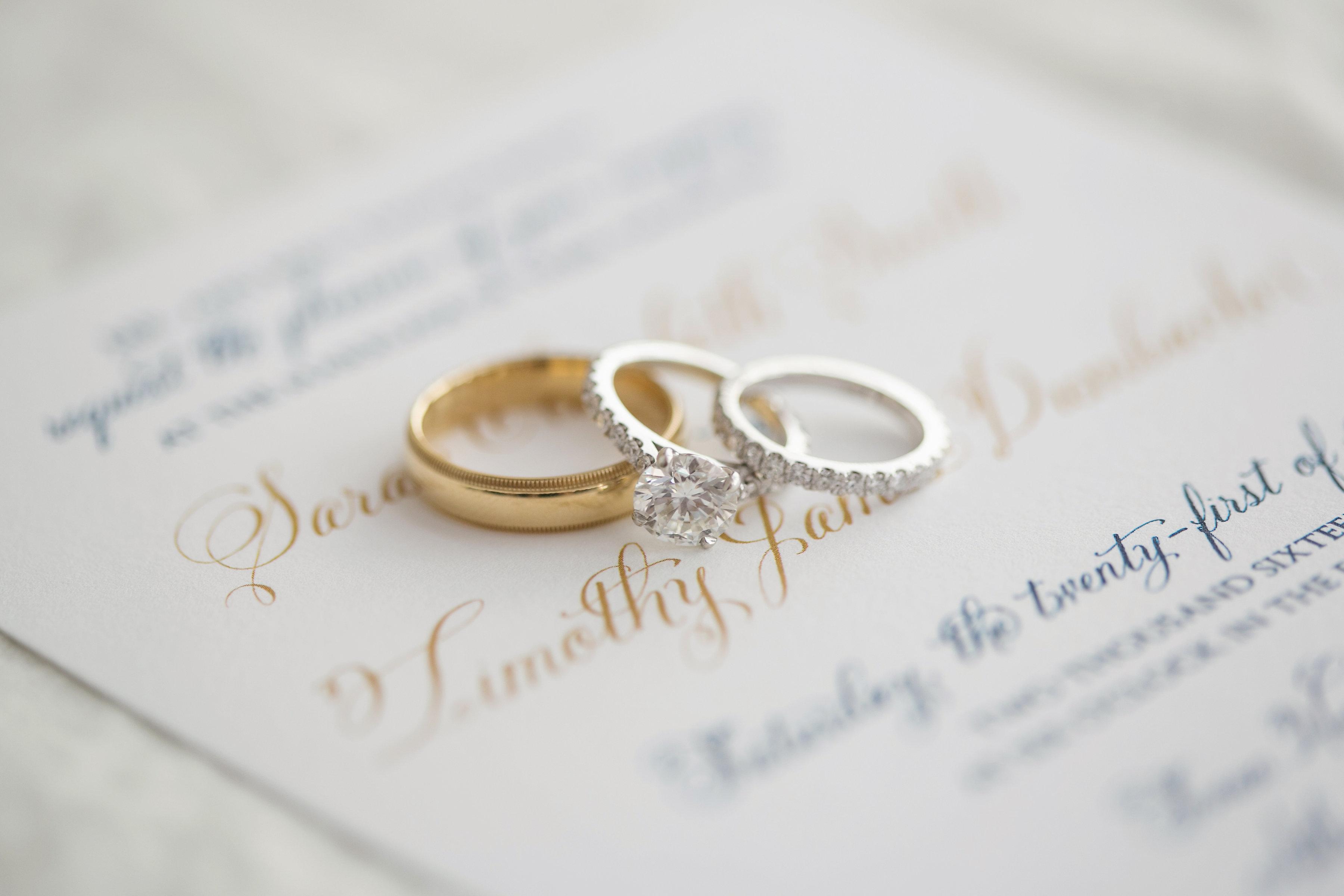 Classic Navy and Gold Georgia Wedding