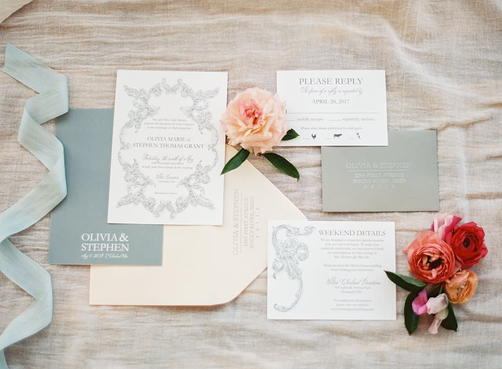 Spring Wedding Invitation Featured on Style Me Pretty