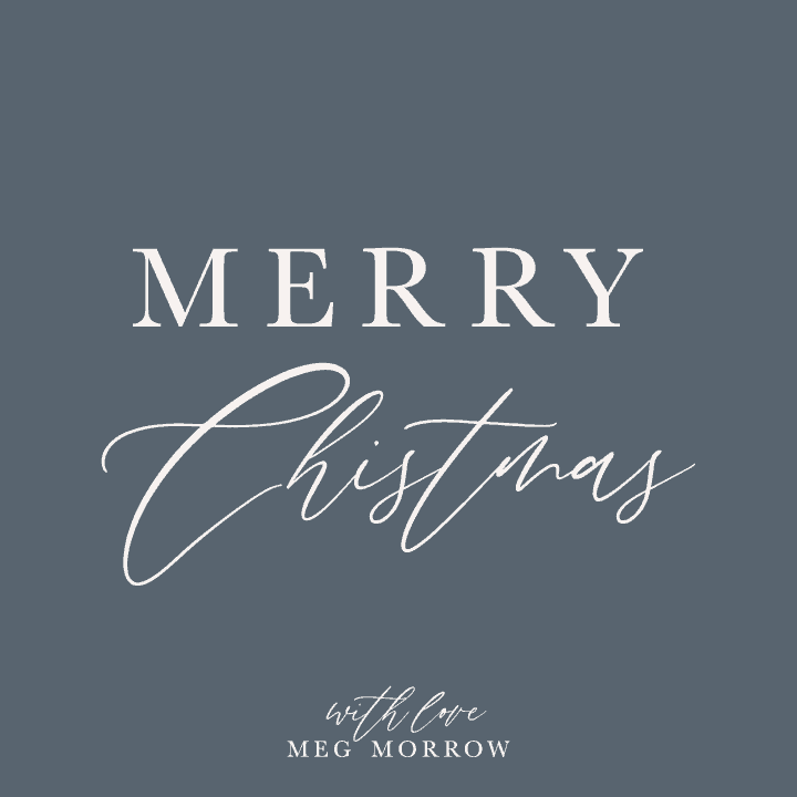 Merry Christmas from Meg Morrow Fine Paper