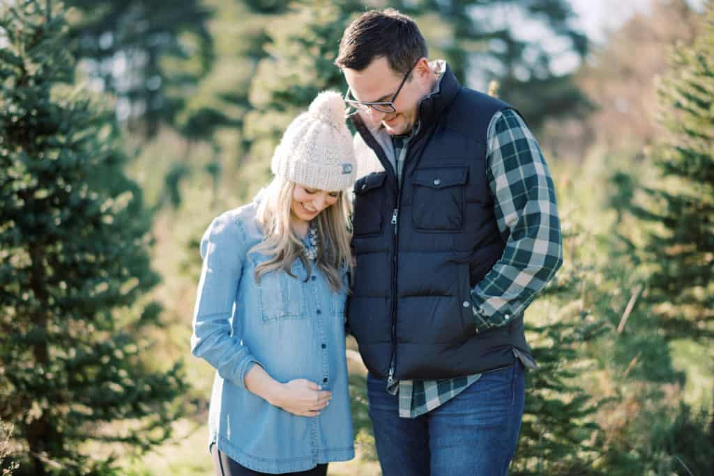 A Little Addition // Christmas Tree Farm Baby Announcement