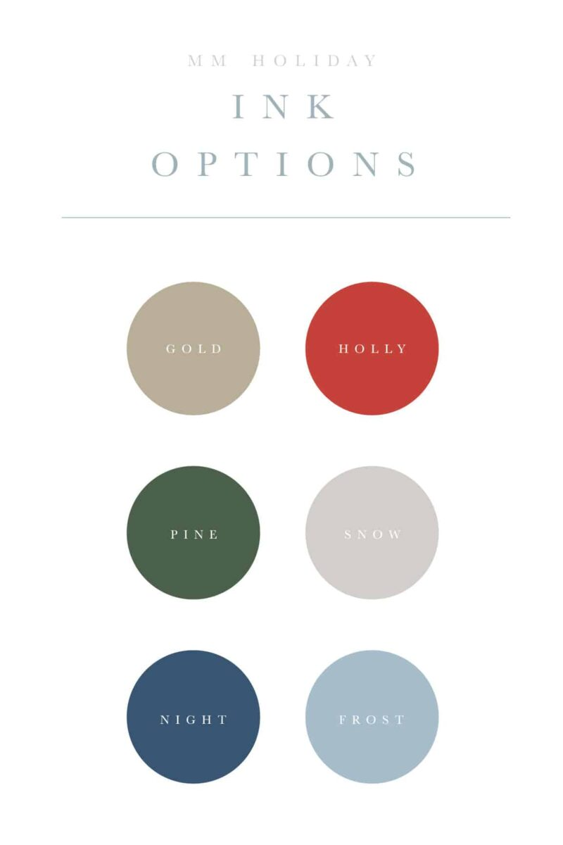 Christmas Card Color Options