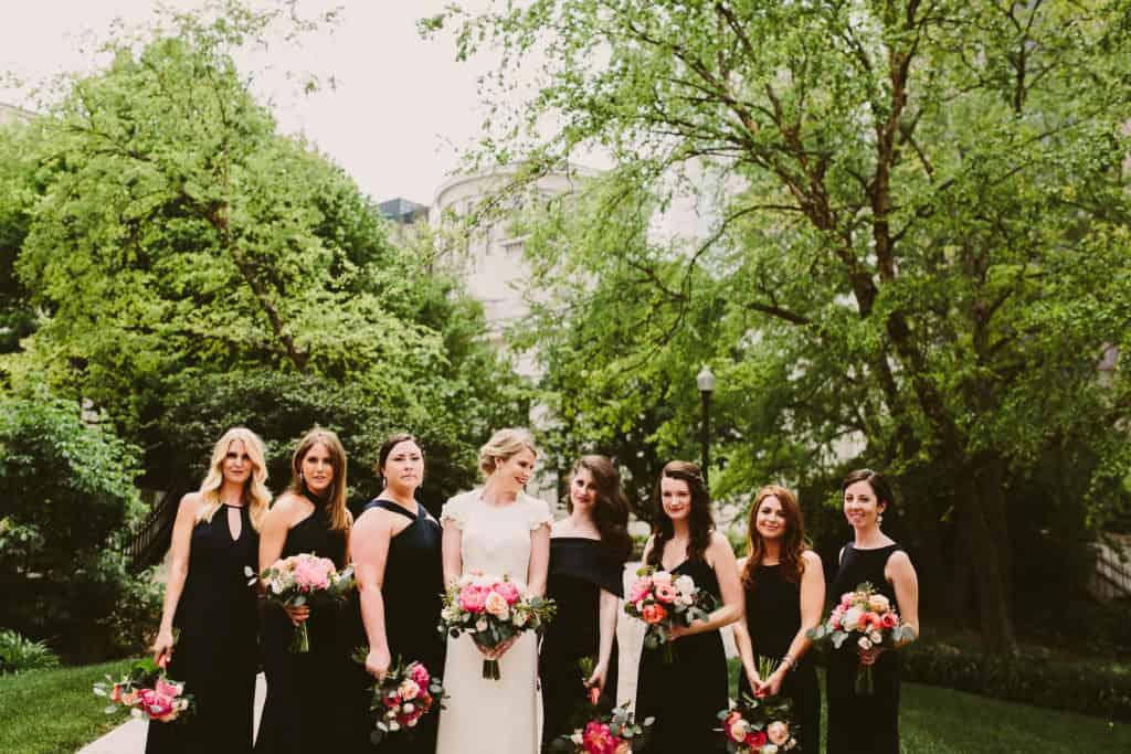 Glamorous Navy, Pink and Gold Wedding