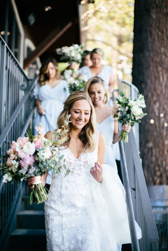 Lake Tahoe Navy and Blush Wedding