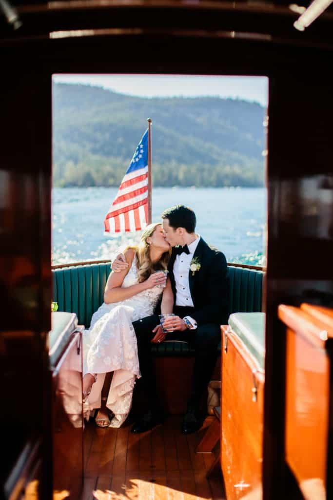 Lake Tahoe Navy and Blush Wedding