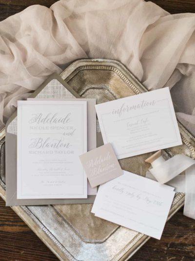 Taylor Script Name Wedding Invitation