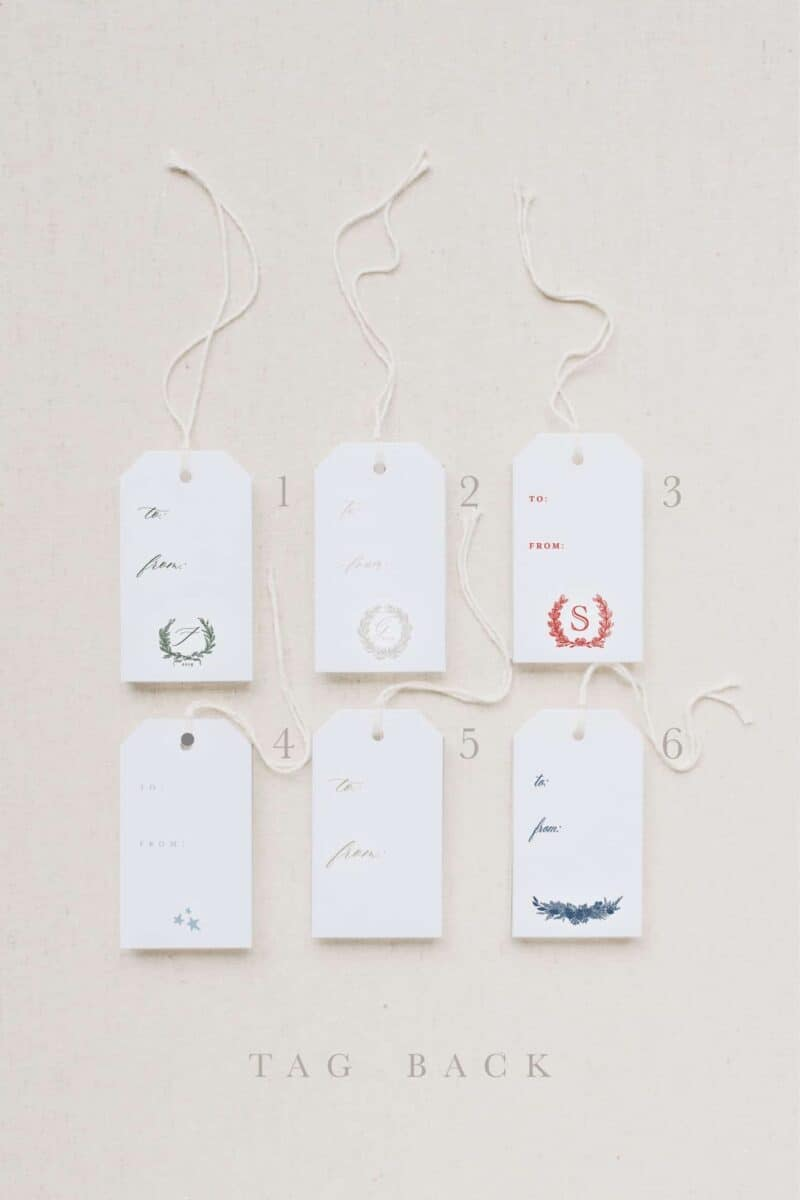 Holiday Gift Tags Back