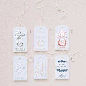 Holiday Gift Tags Front