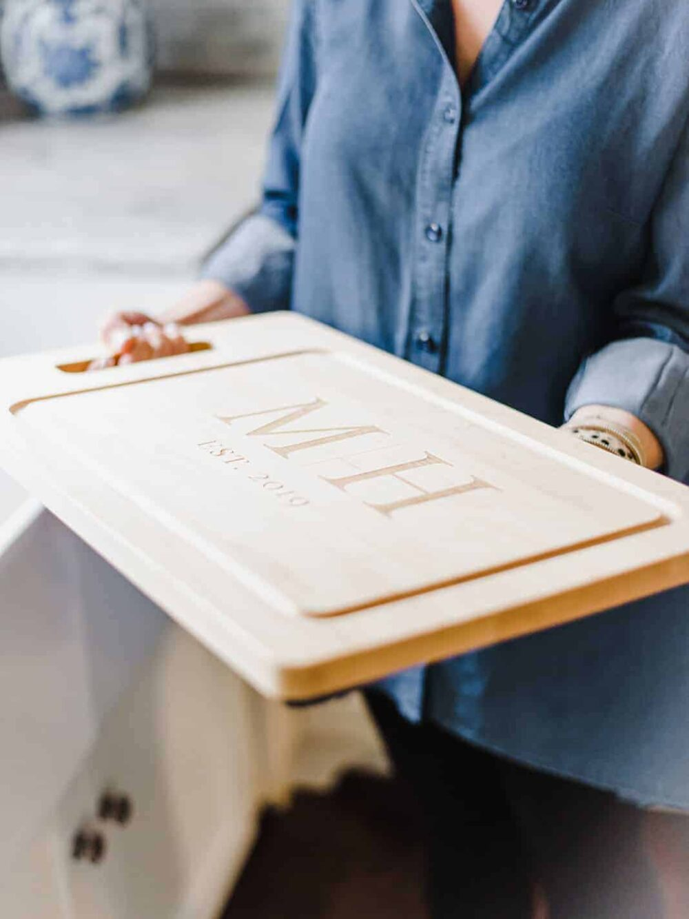 Custom Monogram Large Serving Board