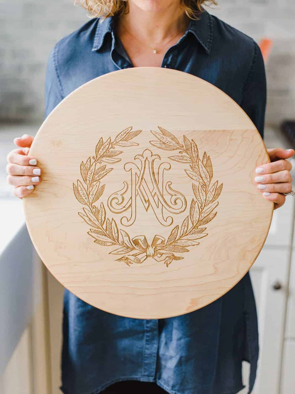 Custom Monogram Lazy Susan