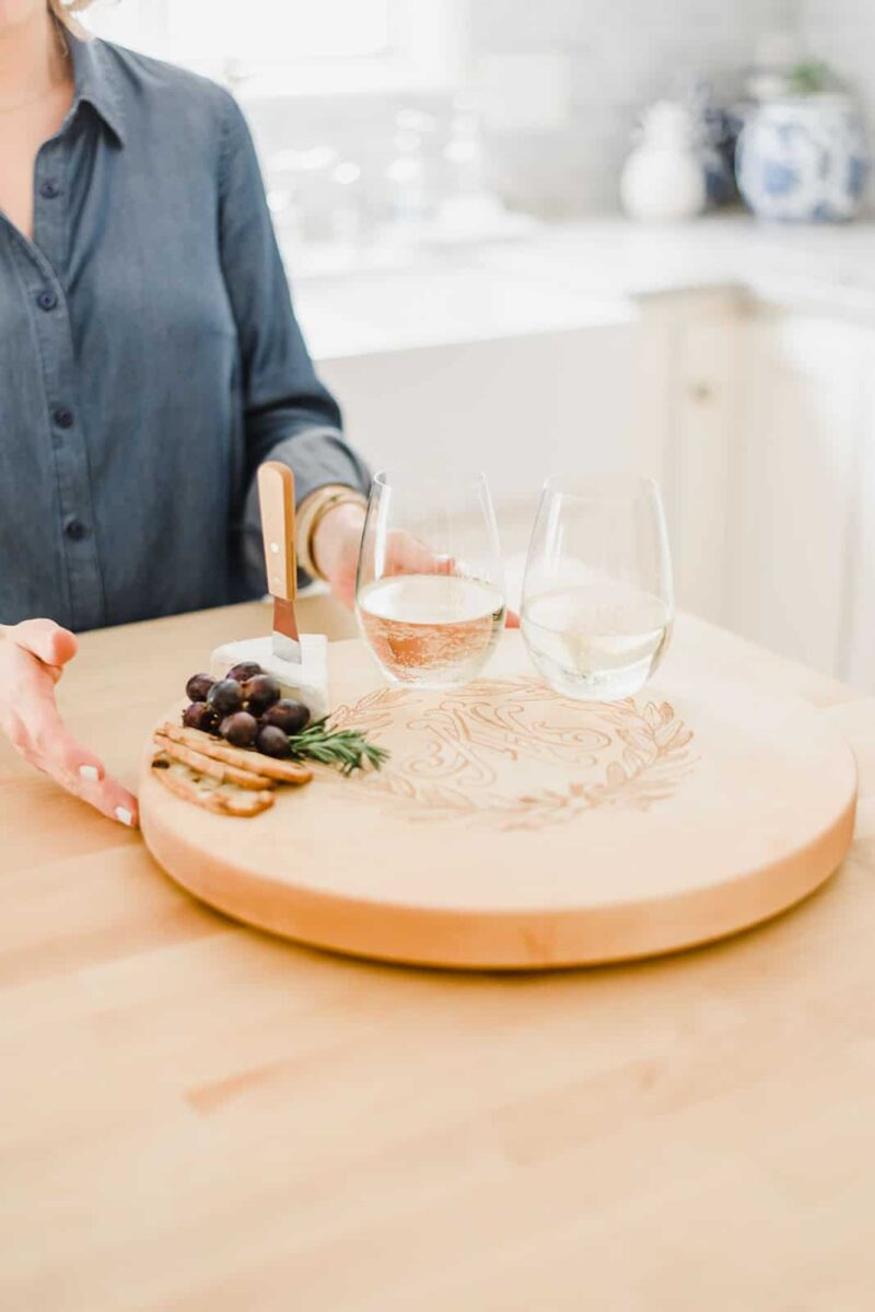 Personalized Lazy Susan with Monogram
