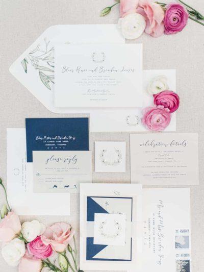 Finley Laurel Wedding Invitation Suite