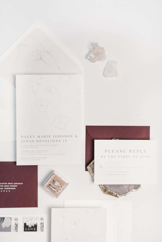 Grace Modern Floral Wedding Invitation