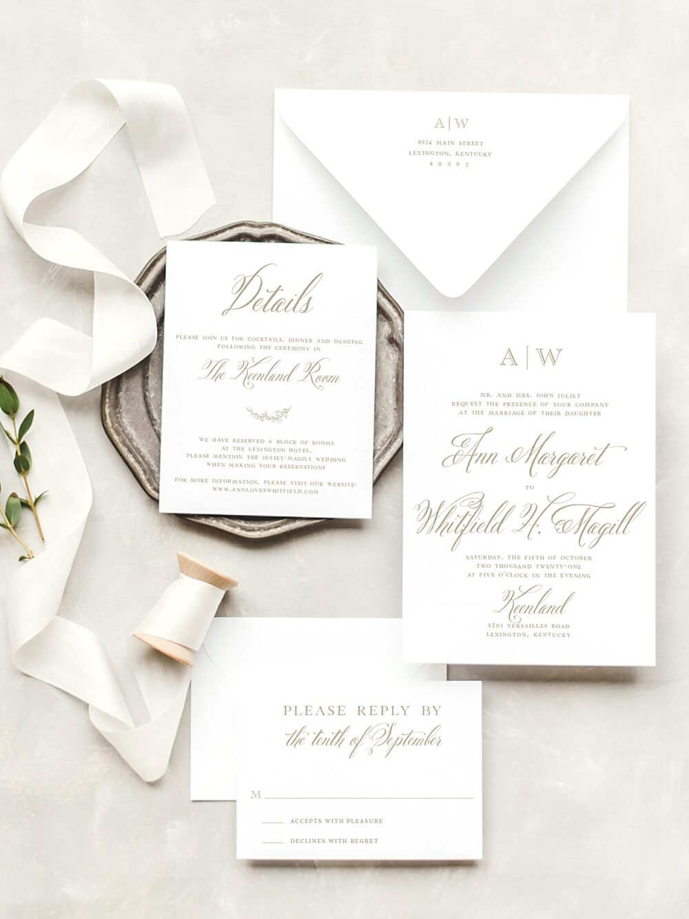 James Classic Monogram Wedding Invitation