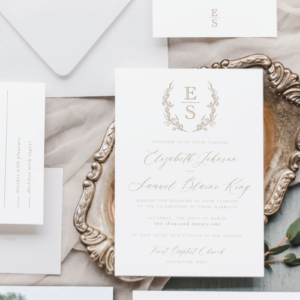 Elisabeth Laurel Mark Wedding Invitation