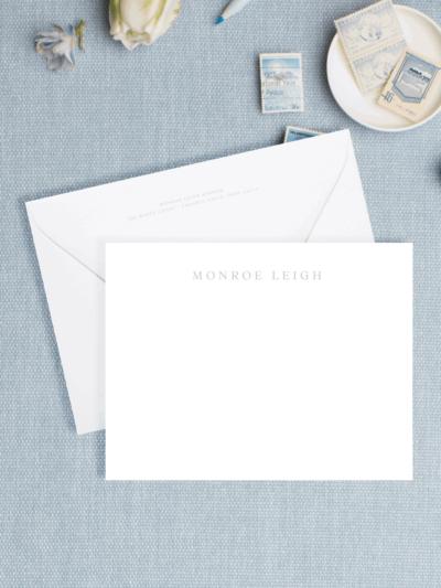Personalized Letterpress Stationery