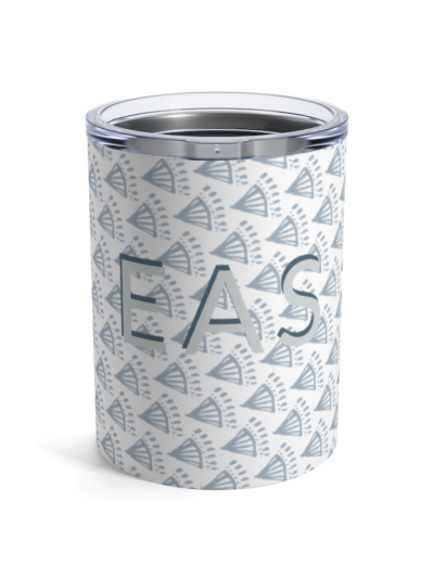 Dusty Blue Boho Monogram Tumbler