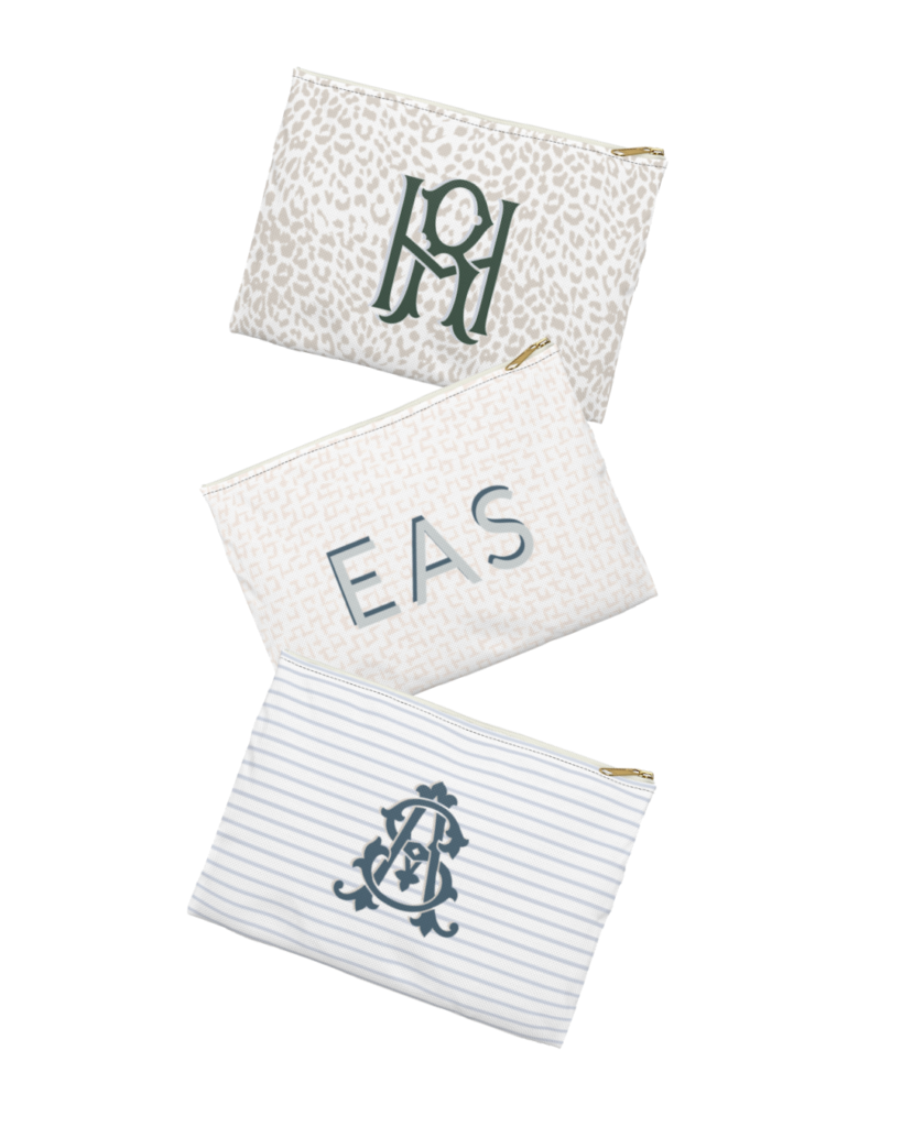 Monogram Totes, Pouches & Tumblers
