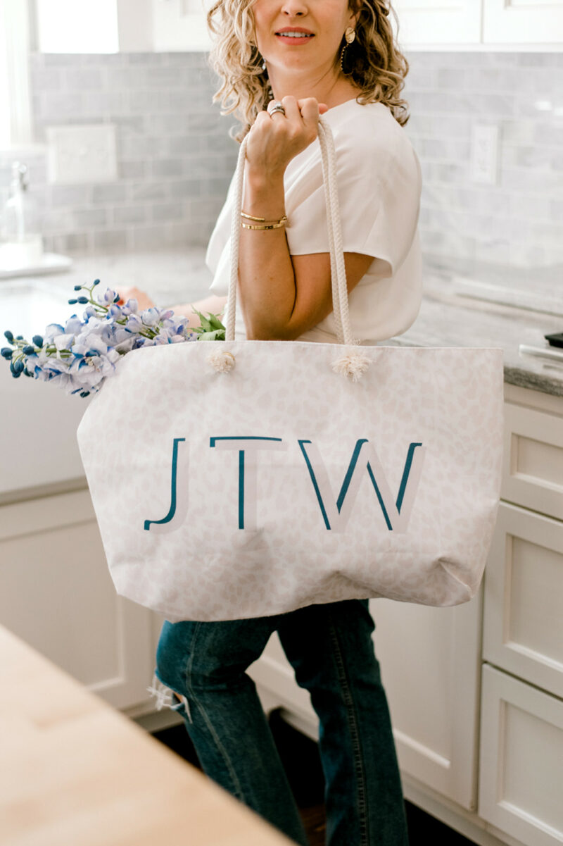Monogram Bridesmaid Totes, Pouches & Tumblers