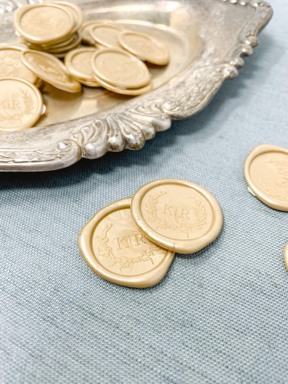 Wedding Invitation Monogram Wax Seal