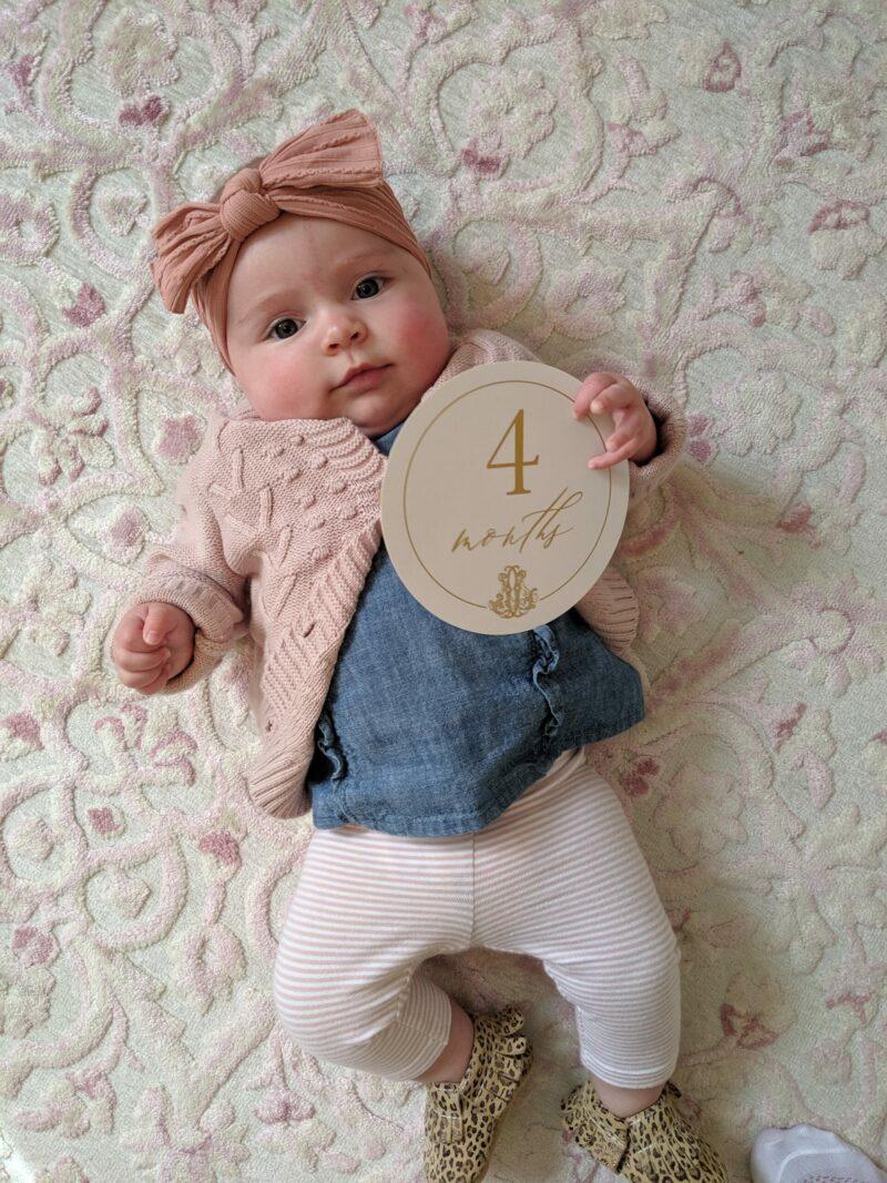 Monogrammed Baby Milestone Cards