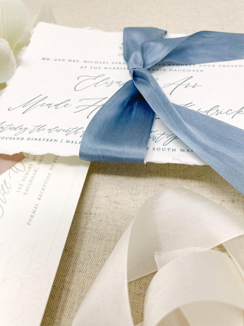 Wedding Invitation Silk Ribbon