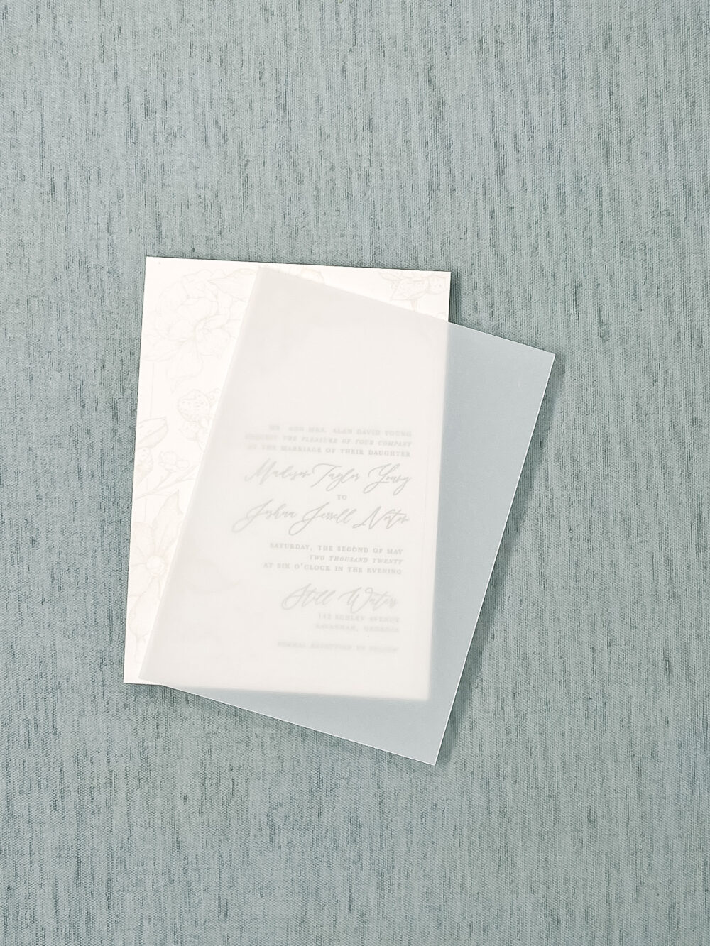 Wedding Invitation Vellum Overlay