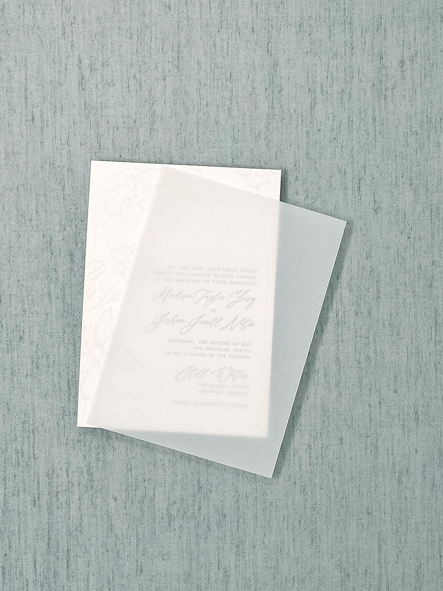Wedding Invitation Vellum Overlay