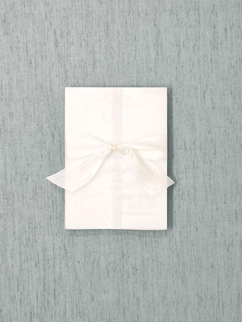 Wedding Invitation Vellum Jacket