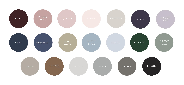 Wedding Collection Color Palette