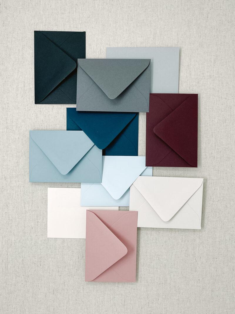 Colored RSVP Envelope for Wedding Invitations